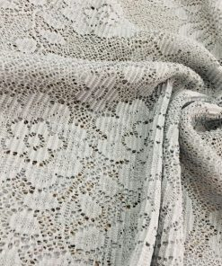 Spitze Stoffe Grau