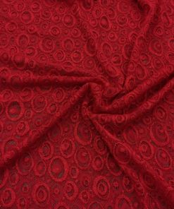 Lace Fabrics Red