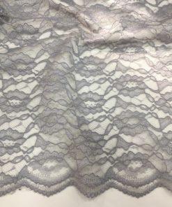 Guipure Stoffe Grau