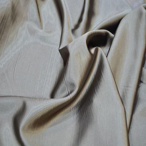 Satin Lycra Fabric Mink Brown
