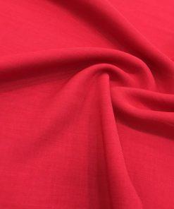 Leinen Krepp Rot