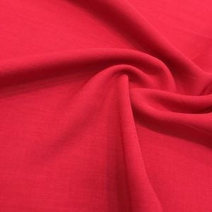 Linen Crepe Red