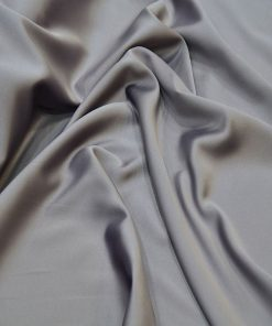 Satin Lycra Fabric Mink Dark