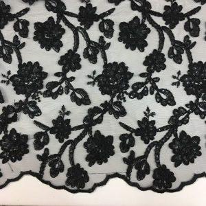 Sequin Lace Black