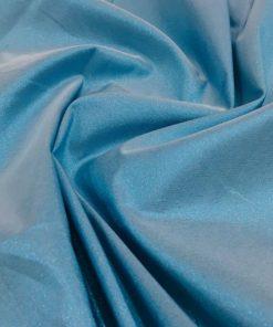 Taft Stoffe Silbrig Eis Blau
