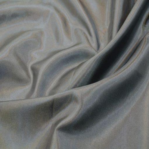Die Seide Futterstoff Grau Silber 3