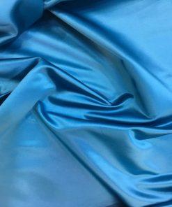 Amerikanisch Satin Stoff Blau