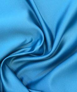 Amerikanisch Satin Stoff Blau 2