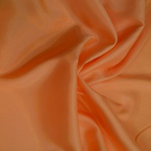 Silk Lining Orange Satin Lycra Fabric Orange